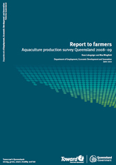 Cover page Aquaculture Report to farmers 2008 to 2009