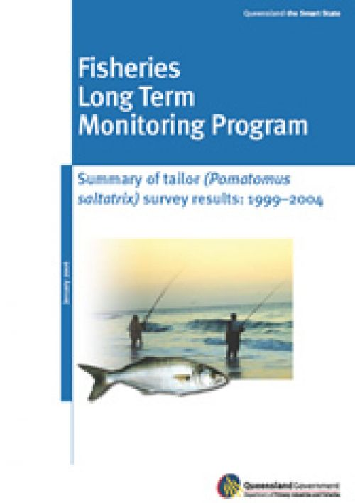 Cover of Fisheries Long Term Monitoring Program - Summary of tailor (Pomatomus saltatrix) survey results: 1999-2004