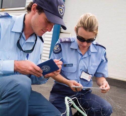QBFP field officers inspecting nets