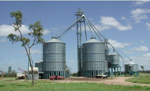 Photograph of grain silos