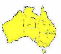Hoop Mitchell distribution area in Australia