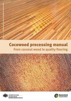 front cover of the cocowood processing manual