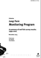 Cover of Long Term Monitoring Program - Summary of Reef Fish Survey Results 1999-2001