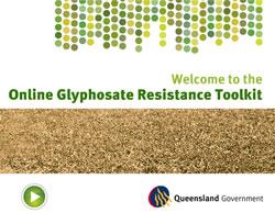 Screenshot of the online Glyphosate Resistance Toolkit